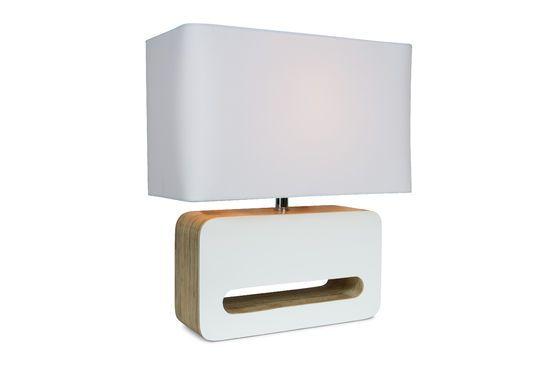 Lámpara de mesa Wood White Clipped