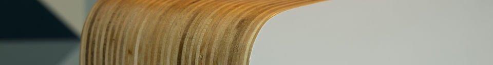 Descriptivo Materiales  Lámpara de mesa Woodwite