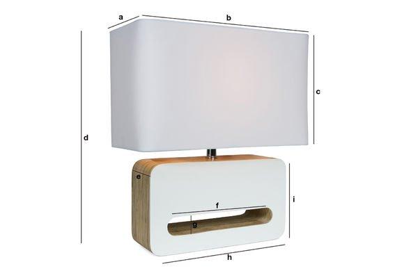 Dimensiones del producto Lámpara de mesa Woodwite