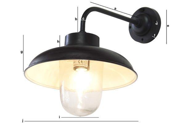 Dimensiones del producto Lámpara de pared angular