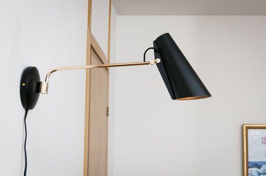 Lámpara de pared Birdy negra