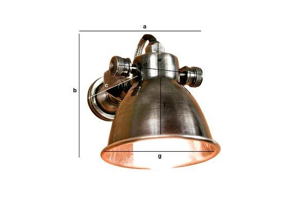 Dimensiones del producto Lámpara de pared Bistró