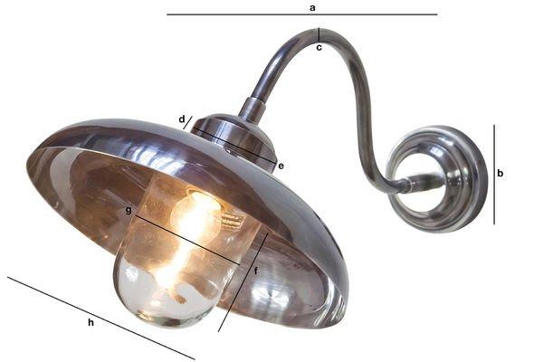 Dimensiones del producto Lámpara de pared cuello de cisne