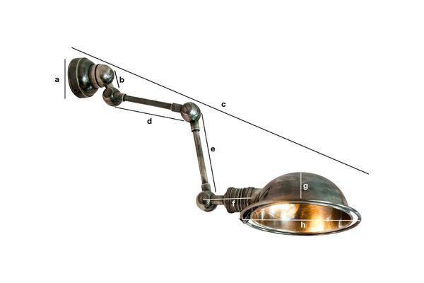 Dimensiones del producto Lámpara de pared estilo herramienta