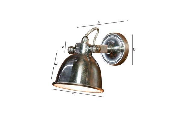 Dimensiones del producto Lámpara de pared grande Bistro
