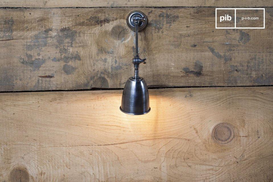 Lámpara de pared ajustable, acabado de níquel barnizado