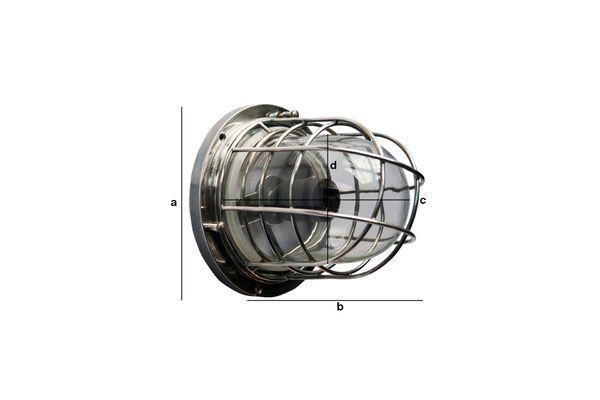 Dimensiones del producto Lámpara de pared náutica Coursive