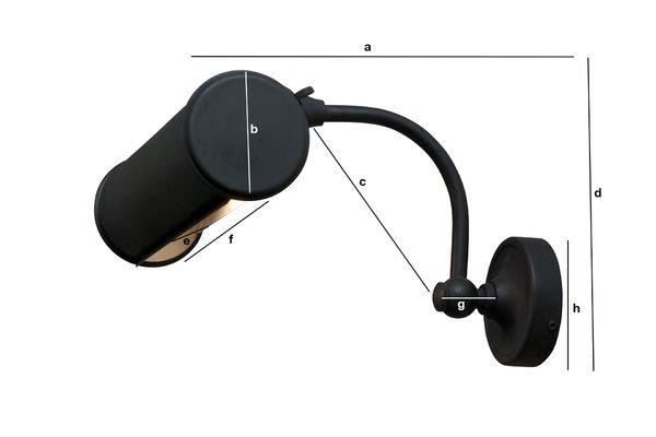 Dimensiones del producto Lámpara de pared negro mate