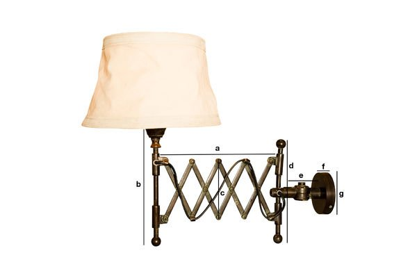 Dimensiones del producto Lámpara de pared Oléron