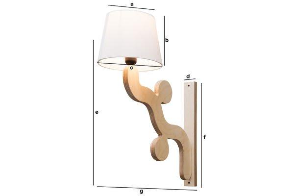 Dimensiones del producto Lámpara de pared  Rholl