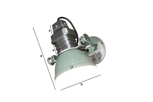 Dimensiones del producto Lámpara de pared Sogelys