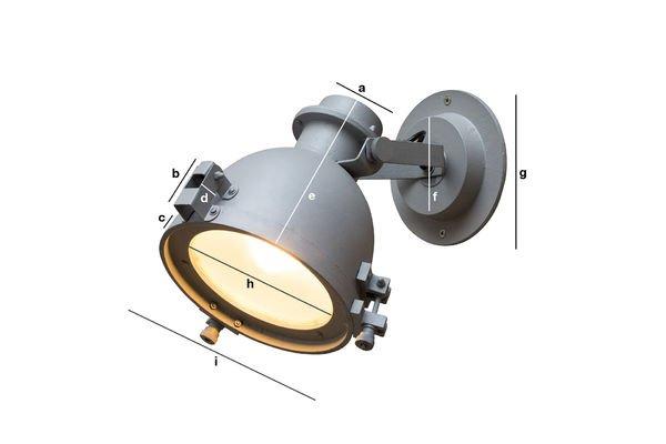 Dimensiones del producto Lámpara de pared Spitzmüller