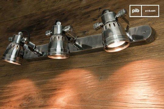 Lámpara de pared triple bistró
