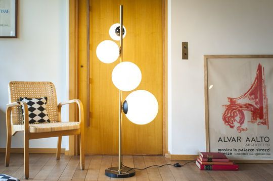 Lámpara de pie 4 lámparas Cañaveral