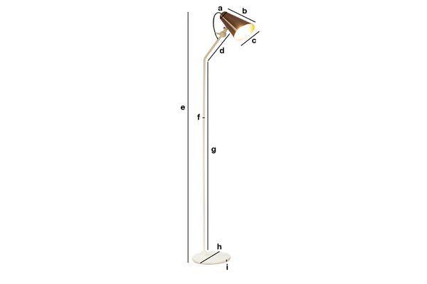 Dimensiones del producto Lámpara de pie Courmayeur
