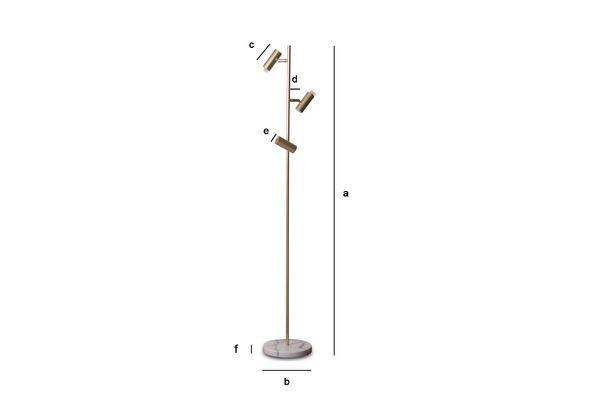 Dimensiones del producto Lámpara de pie retro Lubeck