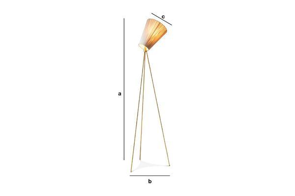 Dimensiones del producto Lámpara de pie trípode Oslo Wood