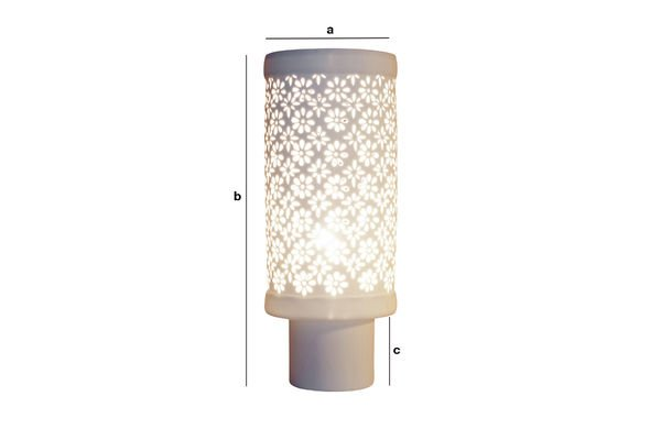 Dimensiones del producto Lámpara de porcelana