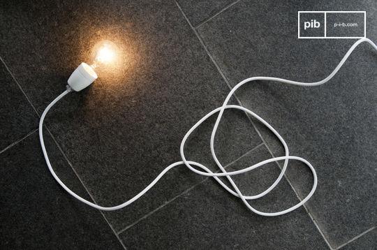 Lámpara de porcelana blanca NUD
