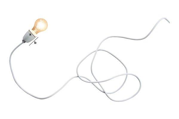 Dimensiones del producto Lámpara de porcelana blanca NUD