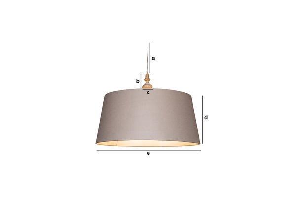 Dimensiones del producto Lámpara de suspensión Bilboquet