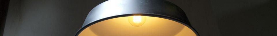 Descriptivo Materiales  Lámpara de suspensión Black Factory