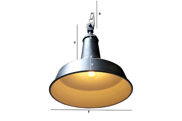 Dimensiones del producto Lámpara de suspensión Black Factory
