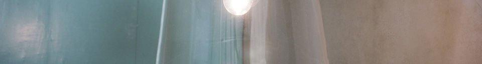 Descriptivo Materiales  Lámpara de suspensión con campana de cristal