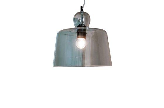Lámpara de suspensión con campana de cristal Clipped