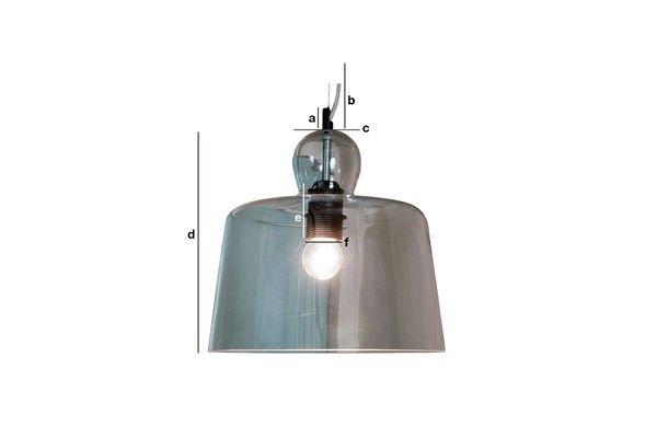 Dimensiones del producto Lámpara de suspensión con campana de cristal