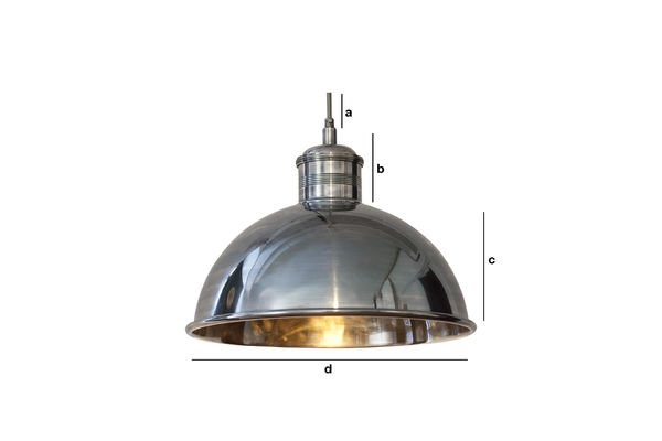 Dimensiones del producto Lámpara de suspensión larga Banker