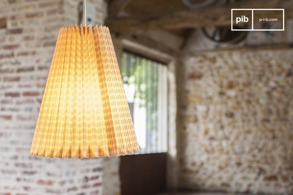 La Lámpara de suspensión retro Mark es una lampara origamia atractiva tanto por su encanto y