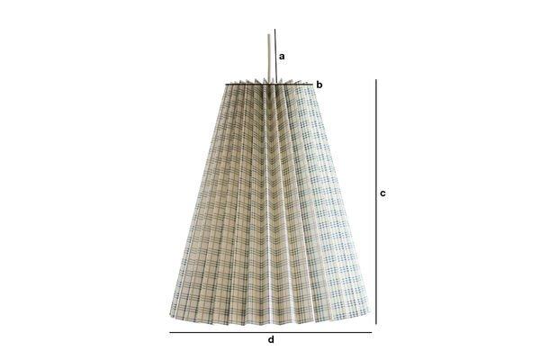 Dimensiones del producto Lámpara de suspensión retro Mark