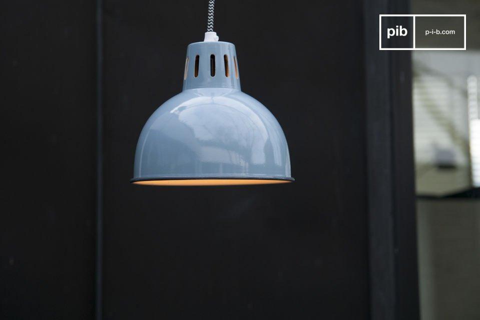 Lámpara de Suspensión SNÖL de color azul