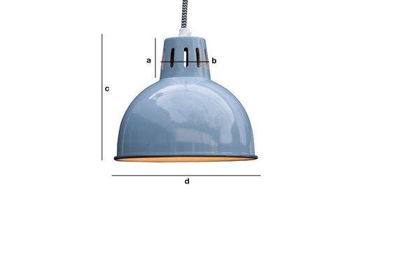 Dimensiones del producto Lámpara de Suspensión SNÖL de color azul