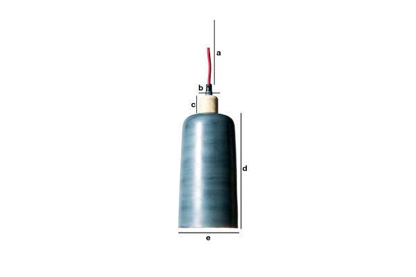 Dimensiones del producto Lámpara de techo Blue Terry