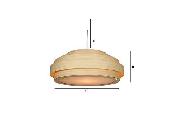 Dimensiones del producto Lámpara de techo de bambú
