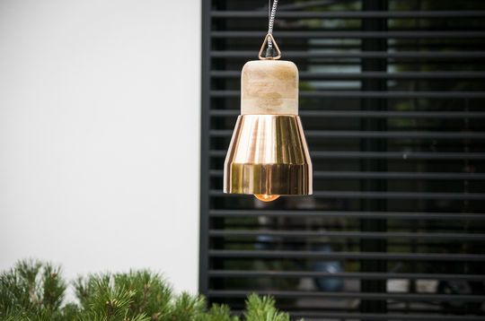 Lámpara de techo de cobre Newark