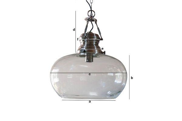 Dimensiones del producto Lámpara de techo de cristal Hoonui