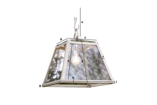 Dimensiones del producto Lámpara de techo Serre
