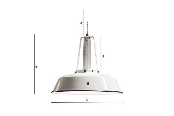 Dimensiones del producto Lámpara de techo Walter white