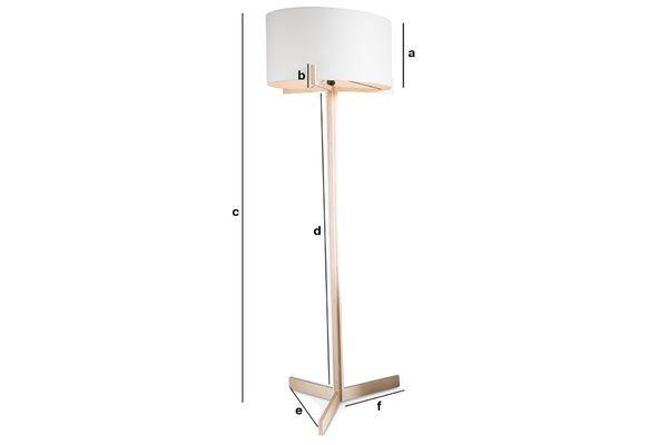 Dimensiones del producto Lámpara estándar Barbara