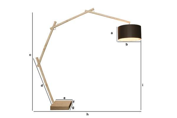 Dimensiones del producto Lámpara Jayjay