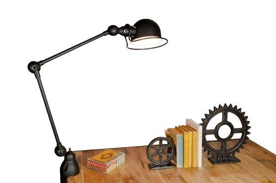 Lámpara Jielde loft negra mate con agarradera Clipped