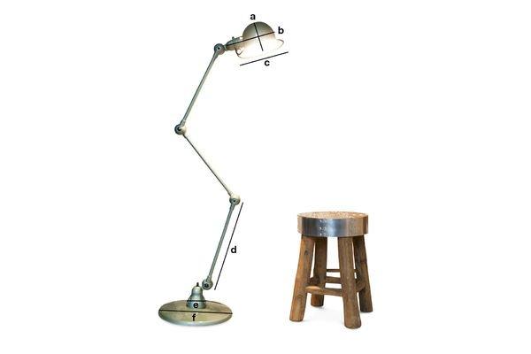 Dimensiones del producto Lámpara JIELDE Loft Vespa verde