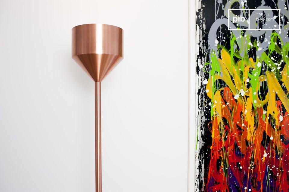 La elegancia de una lámpara de color cobre con todo el estilo vintage
