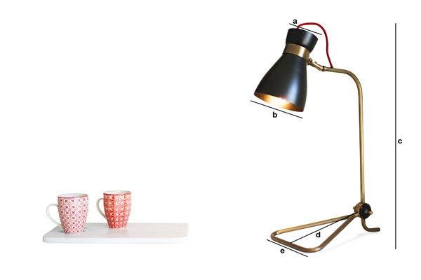 Dimensiones del producto Lámpara Kelly