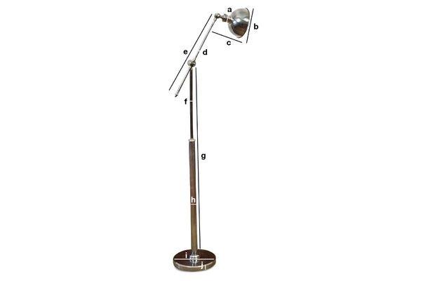Dimensiones del producto Lámpara para leer metálica ajustable