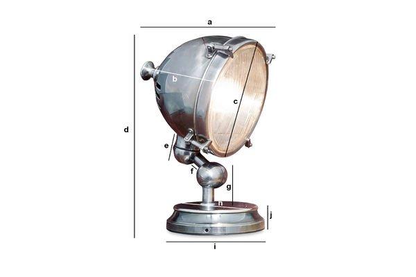 Dimensiones del producto Lámpara plateada