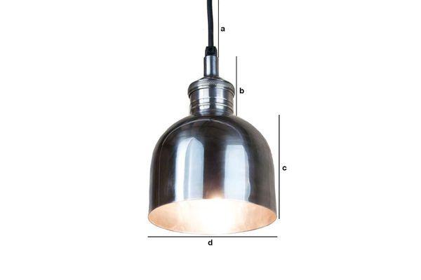 Dimensiones del producto Lámpara plateada brillante
